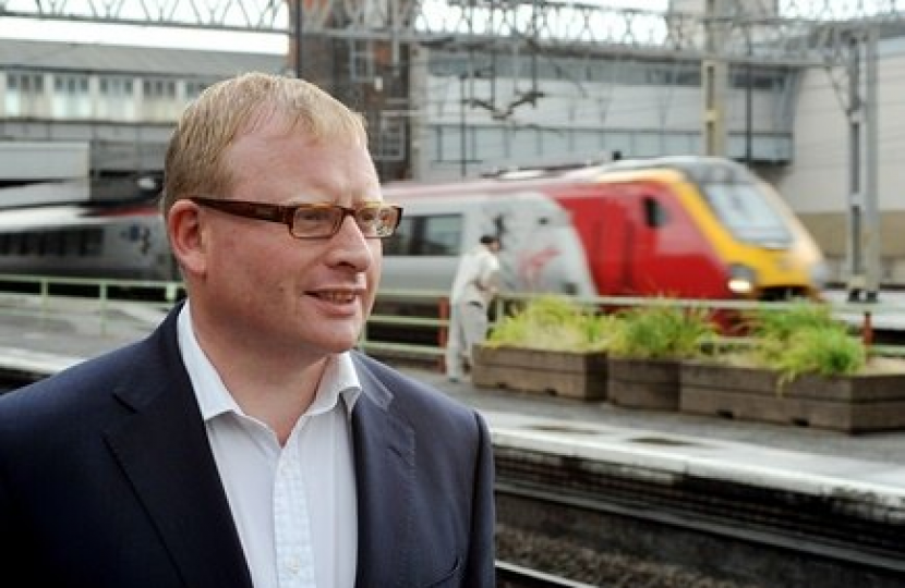 Marcus Jones MP and train
